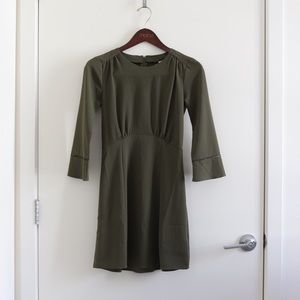 NWT H&M Olive Green Long Sleeve Dress